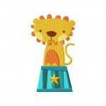 Circus Lion Stitched 5_5 Inch