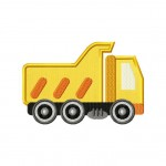 Construction Dump Truck Applique 5_5 Inch