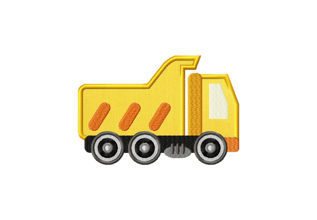 Construction Dump Truck Machine Embroidery Design Includes
