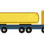 Construction Semi Truck Applique 5_5 Inch