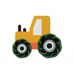 Construction Truck Machine Embroidery Design Includes Both Applique and Filled Stitch