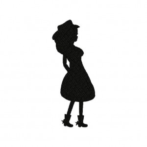Gowgirl Stance Silhouette Machine Embroidery Design
