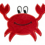 Machine Embroidery Crab includes BOTH Applique and Fill Stitch
