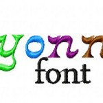 Crayonnette Machine Embroidery Font Set