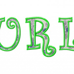 Curlz Applique Machine Embroidery Font