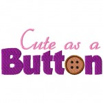 Cute as a Button Free Embroidery Design