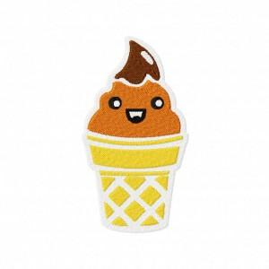 Cutesy Cone Machine Embroidery Design