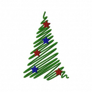 Satin Stitch Decorative Christmas Tree