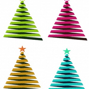 Decorative Christmas Tree Machine Embroidery Design