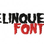 Delinquent Machine Embroidery Font set