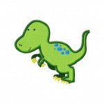 Fun Dinosaur T-Rex Machine Embroidery Includes Applique and Fill Stitch for Gold Members