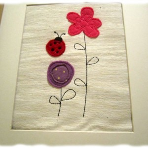 Doodle Bug Machine Embroidery Redwork Applique