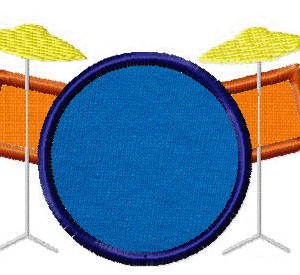 Machine Embroidery Applique Drum Set