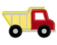 Dump Truck includes BOTH Applique and Fill Stitch