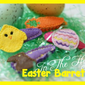 In The Hoop Easter Barrette Covers Four Pack