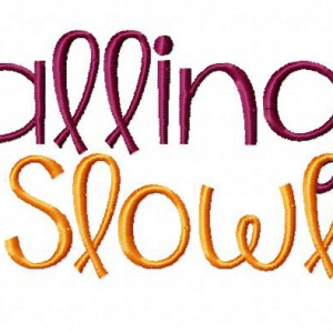 Falling Slowly Machine Embroidery Font Set