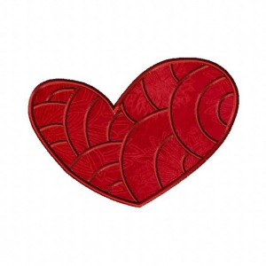 Fancy Heart Machine Applique Design