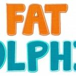 Fat Dolphin Machine Applique Font Set in Three Sizes