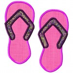 Applique Flip Flops