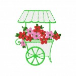 Fully Stitched Flower Cart