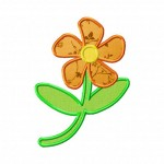 Machine Applique Petals Flower Design