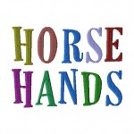 Horse Hands Machine Embroidery Font Set