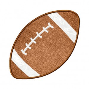 Football Machine Embroidery Includes both Applique and Fill Stitch
