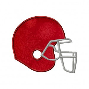 Football Helmet Embroidery Design Includes Both Applique and Fill Stitch