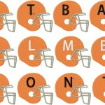 Football Helmets Monogramming Machine Embroidery Font Set