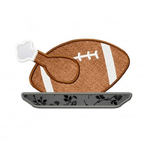 Turkey Football Machine Embroidery Applique