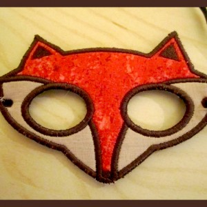 In The Hoop Fox Mask with Tutorial