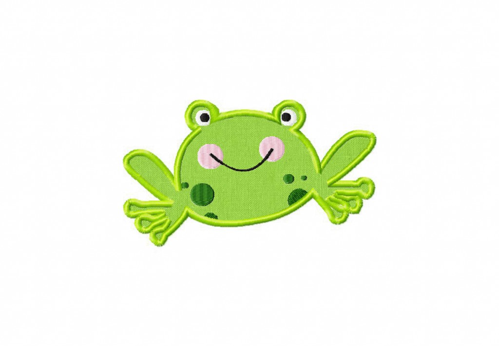 frog machine embroidery designs