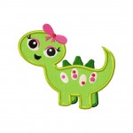 Girly Land Dino Applique 5_5 Inch