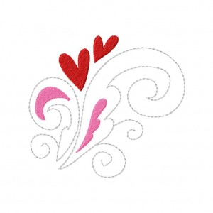 Growing Love Machine Embroidery Design