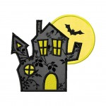 Haunted House Machine Embroidery Applique