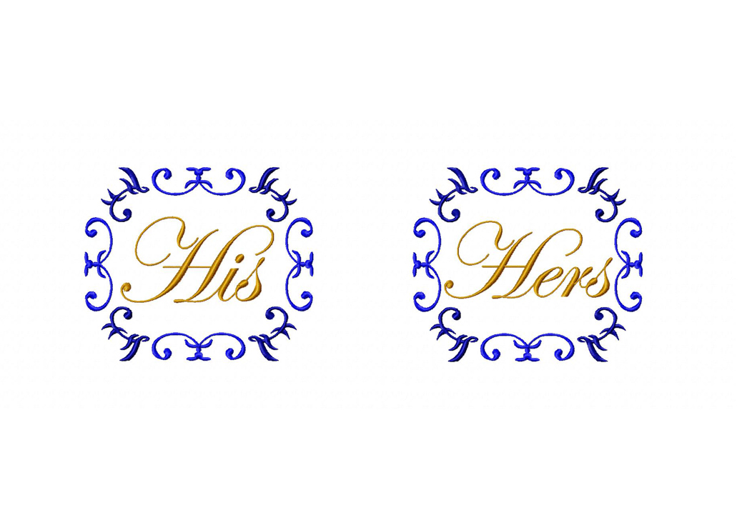 His and Hers Machine Embroidery Designs