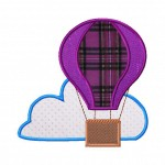 Hot Air Balloon Includes Both Applique and Fill Stitch