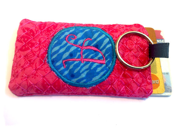 In The Hoop Key Chain Card Holder Curlz Alphabet with Tutorial