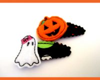 In The Hoop Halloween Spooks Barrette Cover Two Pack