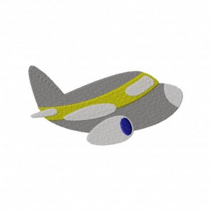 High Flying Jet Machine Embroidery Includes Both Applique and Filled Stitch