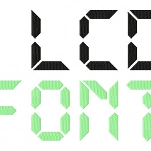 LCD Machine Embroidery Font set
