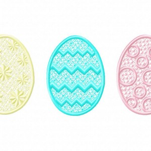 Freestanding Lace Eggs Three Pack Machine Embroidery Designs