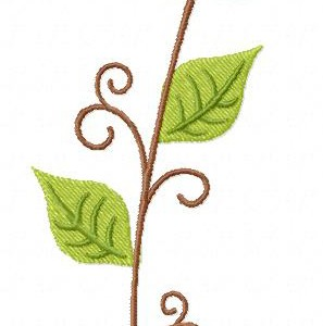 Leafy Vine Machine Embroidery Design