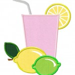 Lemon and Lime Drink Design includes both Machine Applique and Fill Stitch