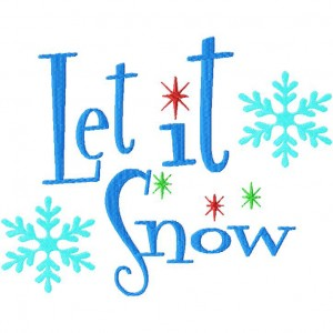 Let It Snow Machine Embroidery Design