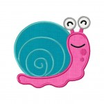 Little Bug Snail Applique 5_5 Inch