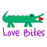 Love Bites Machine Embroidery Design Includes Both Applique and Fill Stitch
