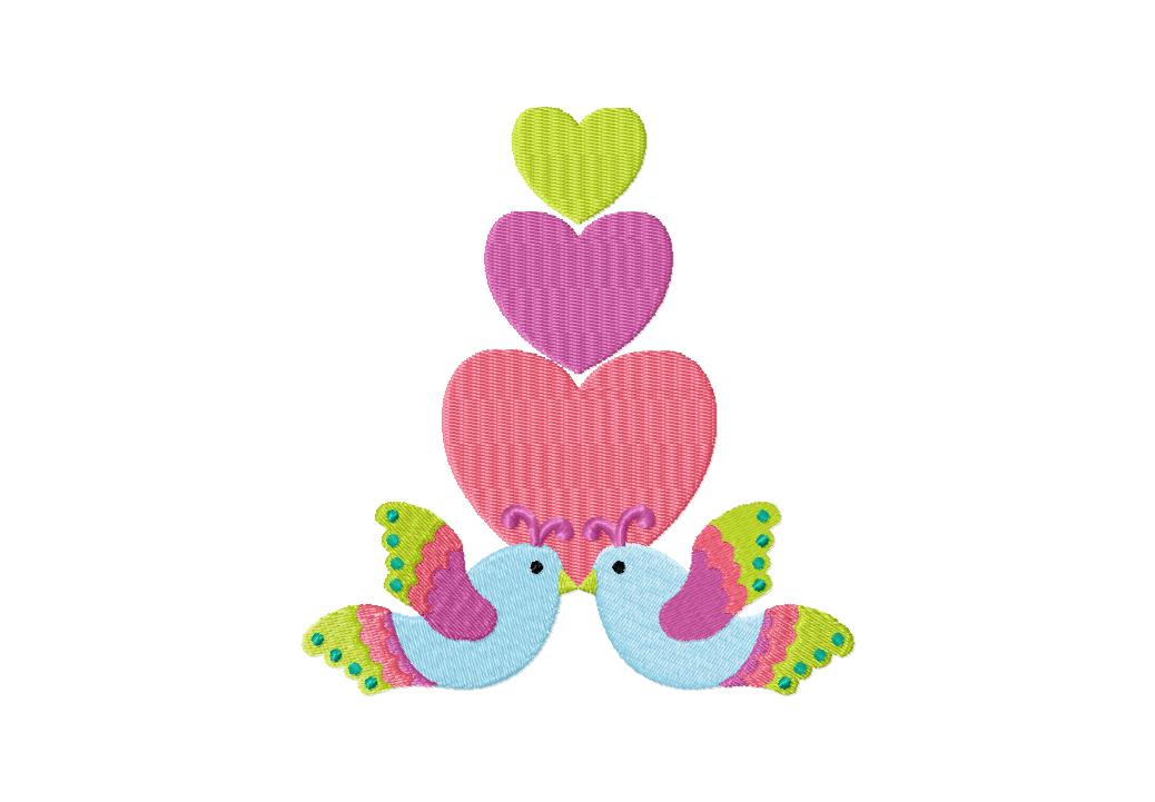 Love Flutters Machine Embroidery Design