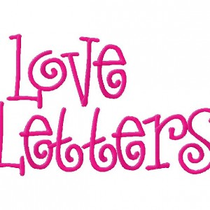 Embroidery Font Set Love Letters