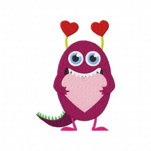 Love Monster Machine Embroidery Design